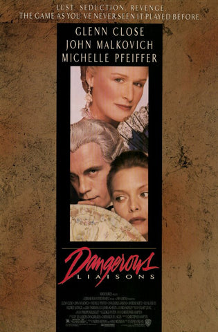 Dangerous Liaisons 11x17 Movie Poster (1988)