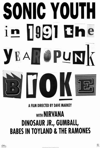 1991: The Year Punk Broke 11x17 Movie Poster (1992)