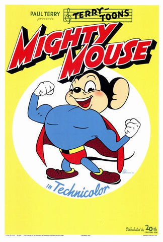 Mighty Mouse 27x40 Movie Poster (1943)