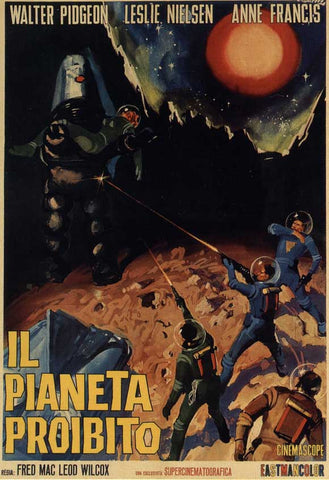 Forbidden Planet (Italian) 11x17 Movie Poster (1956)