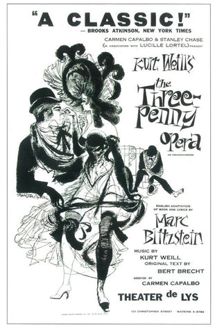 The Three Penny Opera 11x17 Broadway Show Poster (1933)