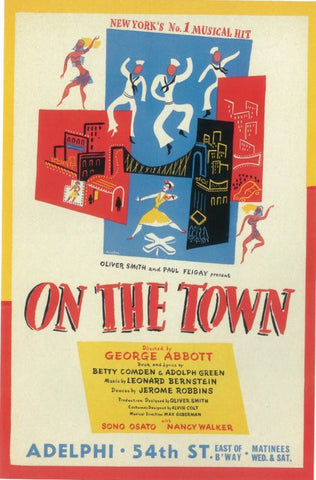 On The Town 11x17 Broadway Show Poster (1944)
