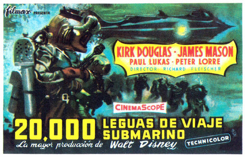 20,000 Leagues Under the Sea (Spanish) 27x40 Movie Poster (1954)