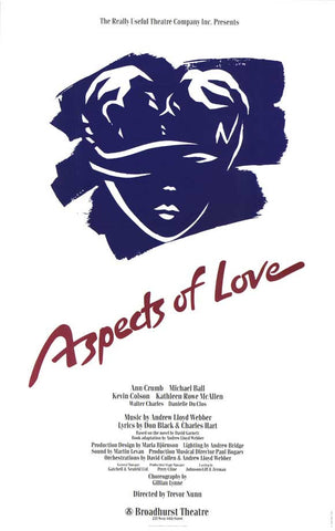 Aspects of Love 11x17 Broadway Show Poster