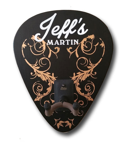 Personalized Classic Rock Guitar Holder Sign