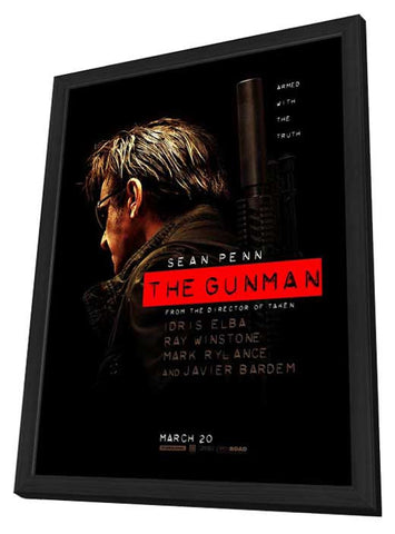 The Gunman 11x17 Framed Movie Poster (2015)