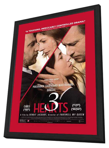 3 Hearts 11x17 Framed Movie Poster (2014)