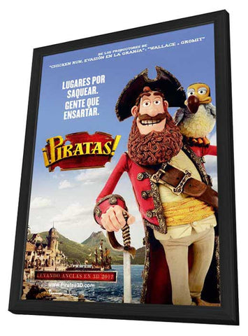 The Pirates! Band of Misfits (Spanish) 11x17 Framed Movie Poster (2012)