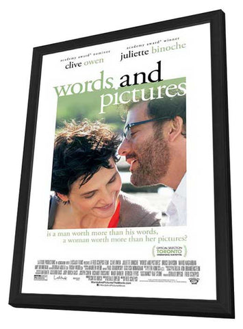Words and Pictures 11x17 Framed Movie Poster (2014)