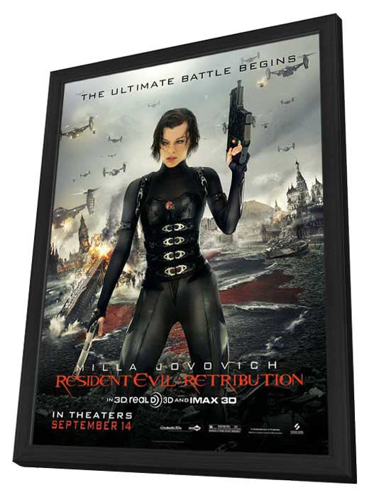 Resident Evil Retribution 27x40 Framed Movie Poster 2012