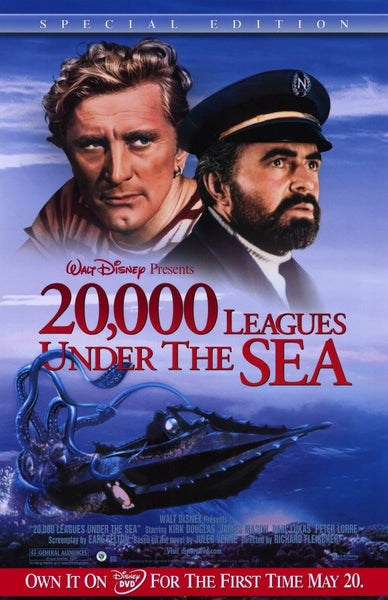 20 000 Leagues Under The Sea 11x17 Movie Poster 1954
