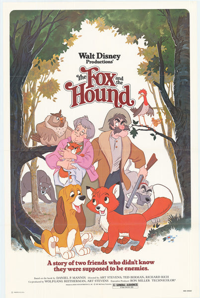 The Fox And The Hound 11x17 Movie Poster 1981 Etriggerz Com
