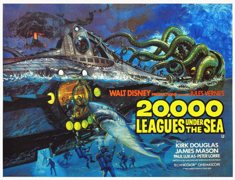 20,000 Leagues Under the Sea 11x14 Movie Poster (1954)