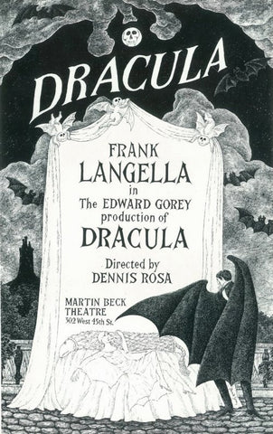 Dracula 11x17 Broadway Show Poster (1977)