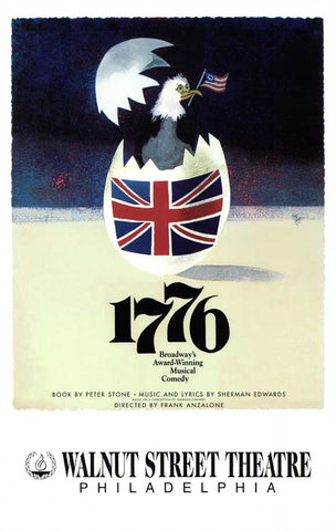 1776 11x17 Broadway Show Poster (1969)