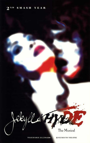 Jekyll and Hyde 27x40 Broadway Show Poster