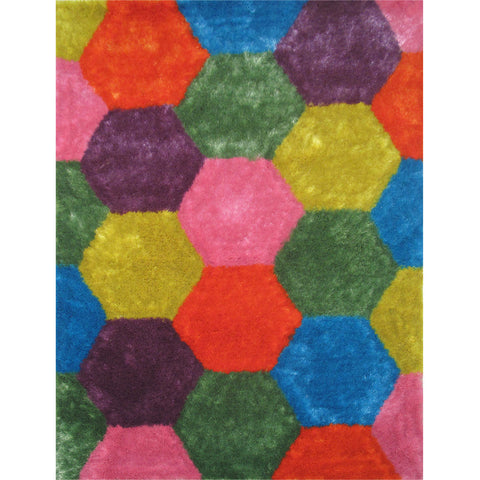 LA Rugs Exotic Shaggy Collection Area Rug