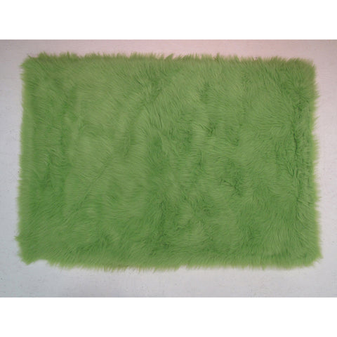 Fun Rugs Flokati Collection Lime Green Area Rug