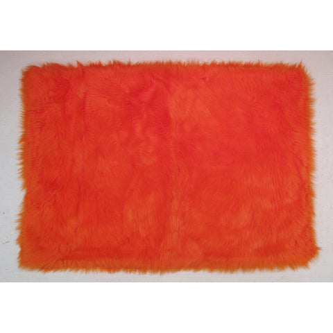 Fun Rugs Flokati Collection Orange Area Rug