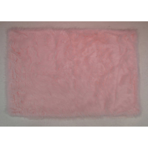 Fun Rugs Flokati Collection Light Pink Area Rug