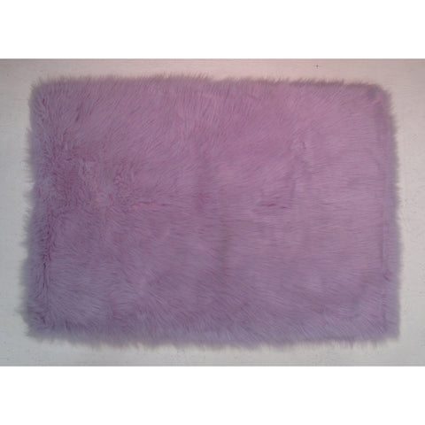 Fun Rugs Flokati Collection Lavender Area Rug