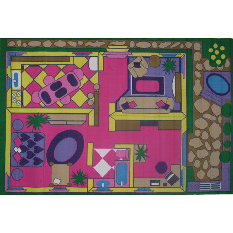 Fun Rugs Fun Time Collection Dollhouse Area Rug