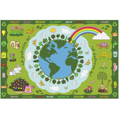 Fun Rugs Fun Time Collection Go Green Area Rug