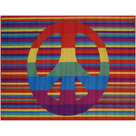Fun Rugs Fun Time Collection Groovy Peace Area Rug