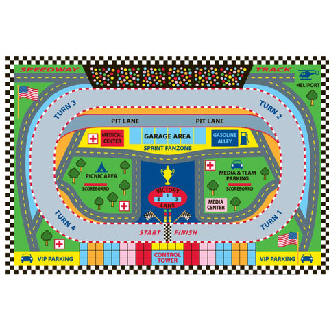 Fun Rugs Fun Time Collection Speedway Area Rug