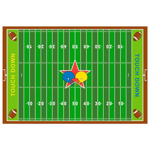 Fun Rugs Fun Time Collection Football Field Area Rug