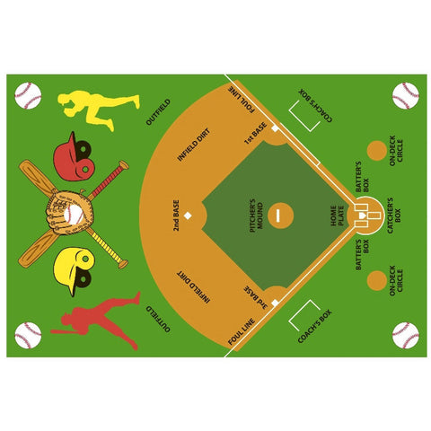 Fun Rugs Fun Time Collection Baseball Field Area Rug