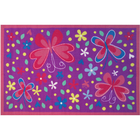 Fun Rugs Fun Time Collection Butterfly Valley Area Rug