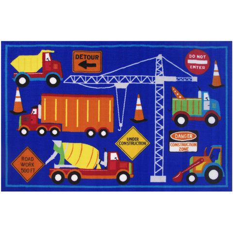 Fun Rugs Fun Time Collection Men At Work Area Rug