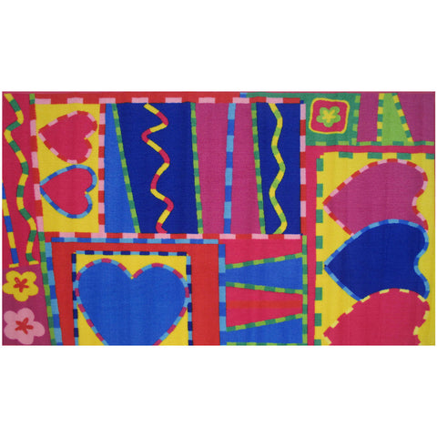 Fun Rugs Fun Time Collection Hearts & Crafts Area Rug