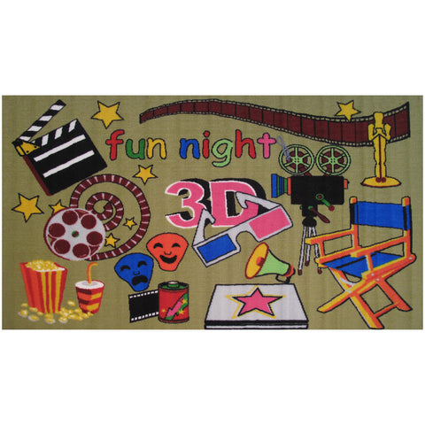 Fun Rugs Fun Time Collection Movie Time Area Rug