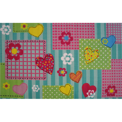Fun Rugs Fun Time Collection Hearts & Flowers Area Rug