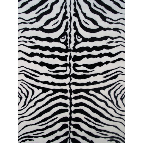 Fun Rugs Fun Time Collection Zebra Skin White Area Rug