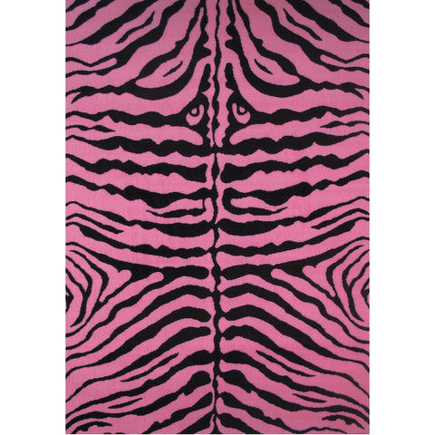 Fun Rugs Fun Time Collection Zebra Skin Pink Area Rug