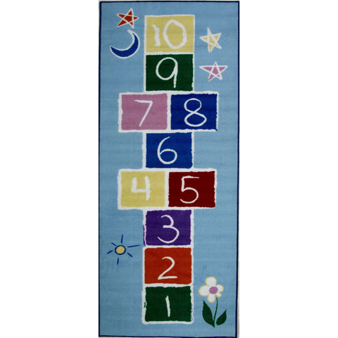 Fun Rugs Fun Time Collection Primary Hopscotch Area Rug