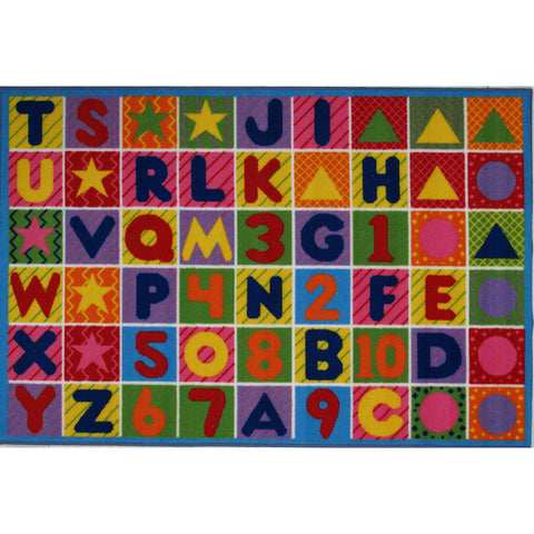 Fun Rugs Fun Time Collection Numbers & Letters Area Rug