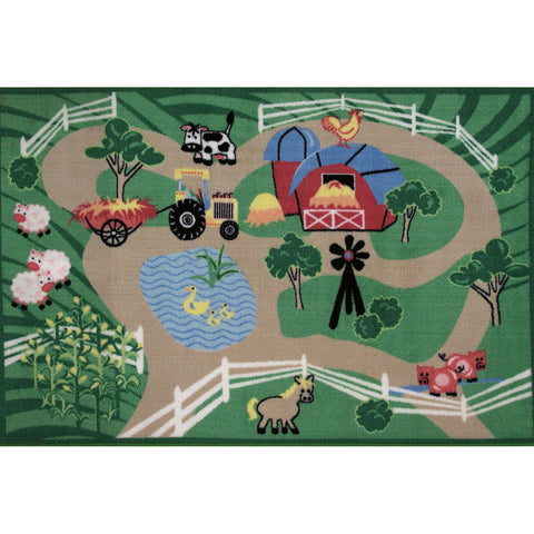 Fun Rugs Fun Time Collection Farm Roads Area Rug