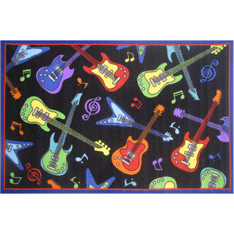 Fun Rugs Fun Time Collection Guitars Area Rug