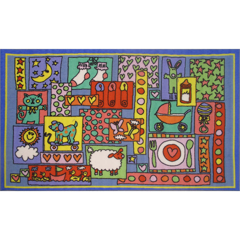Fun Rugs Fun Time Collection Oh Baby Area Rug