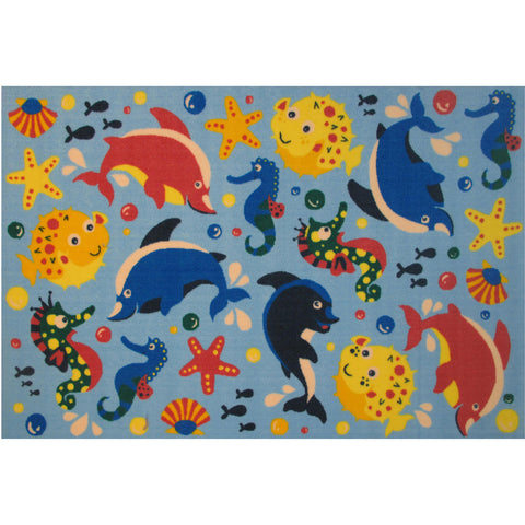 Fun Rugs Fun Time Collection Aquarium Area Rug