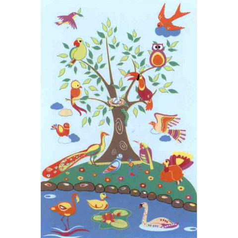 Fun Rugs Fun Time Collection Birds of Paradise Area Rug
