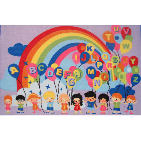 Fun Rugs Fun Time Collection Educational Balloons Area Rug