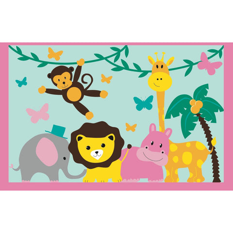 Fun Rugs Fun Time Collection Jungle Party Area Rug