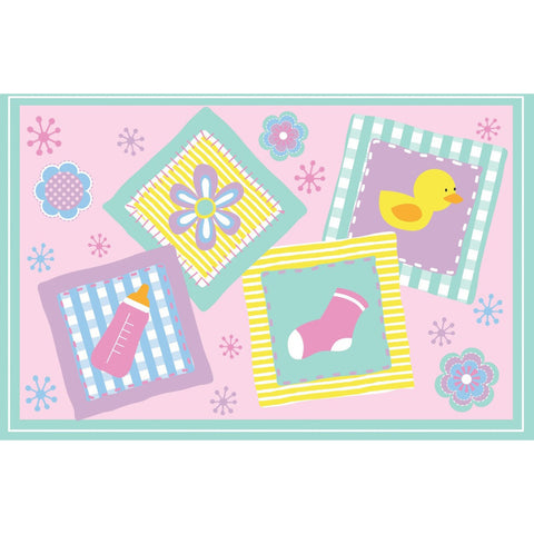 Fun Rugs Fun Time Collection Rockabye Baby Area Rug