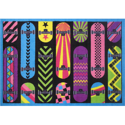 Fun Rugs Fun Time Collection Gnarly Boards Area Rug