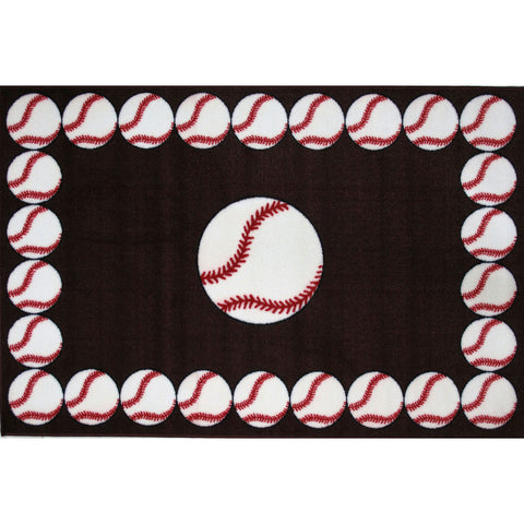 Fun Rugs Fun Time Collection Baseball Time Area Rug